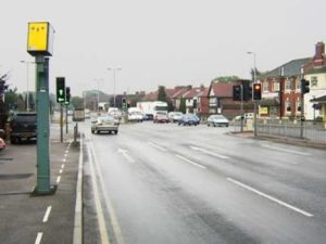 Red-light camera in the UK